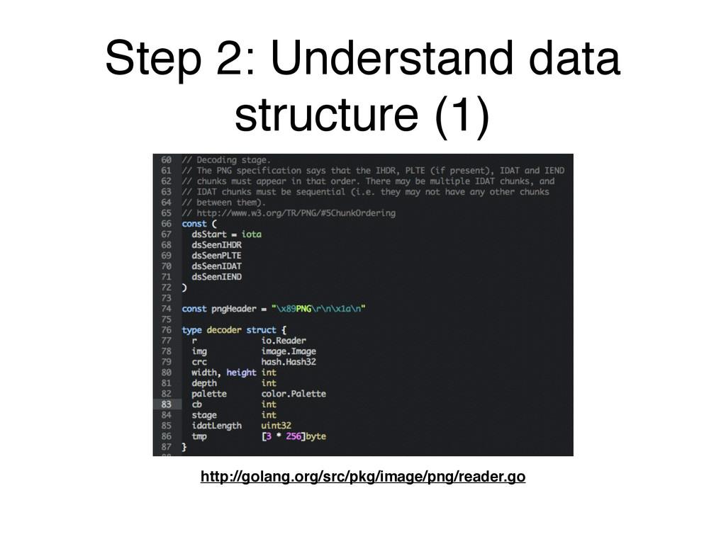 Step 2: Understand data structure (1) http://go...