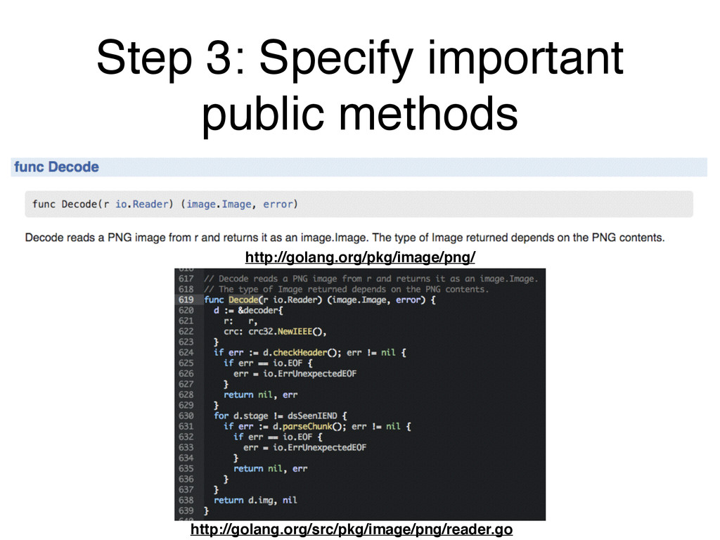 Step 3: Specify important public methods http:/...