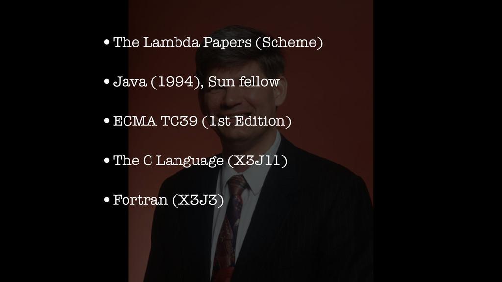 •The Lambda Papers (Scheme) •Java (1994), Sun f...