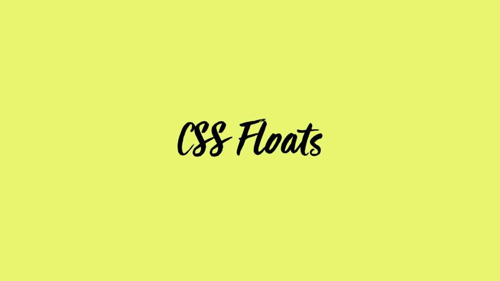CSS Floats