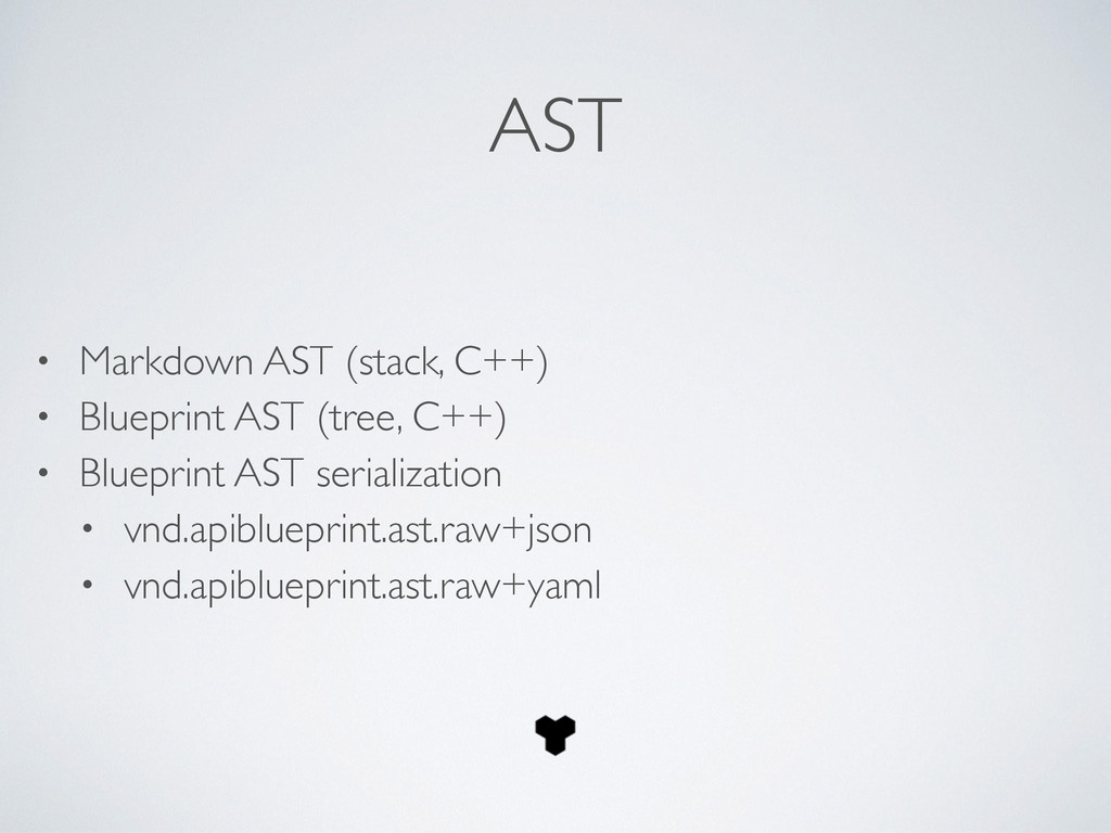AST • Markdown AST (stack, C++)	 