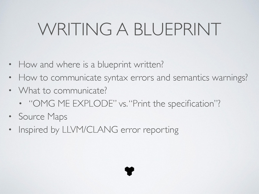 WRITING A BLUEPRINT • How and where is a bluepr...