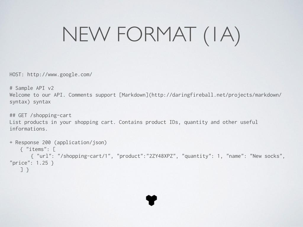 NEW FORMAT (1A) HOST: http://www.google.com/ # ...