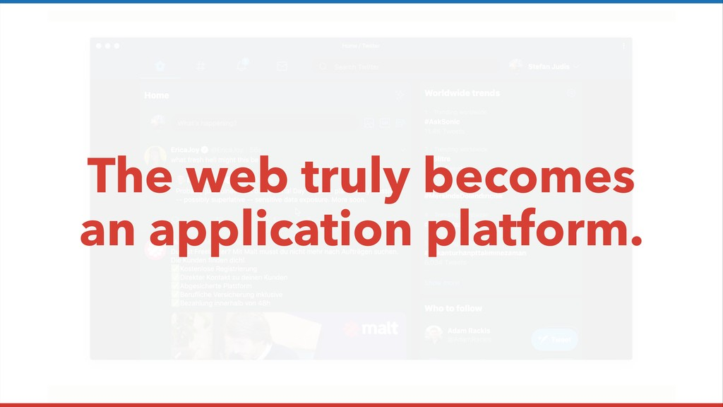 The web truly becomes an application platform.