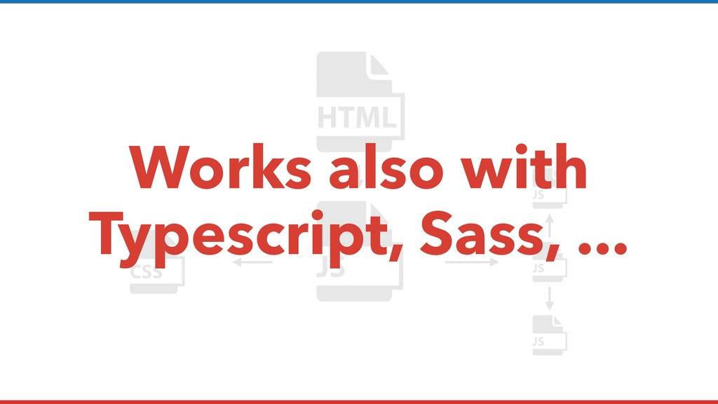 Works also with Typescript, Sass, ...