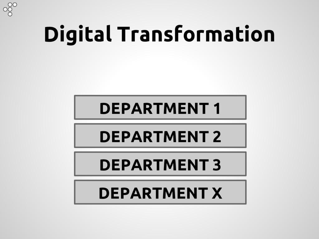 Digital Transformation DEPARTMENT 1 DEPARTMENT ...