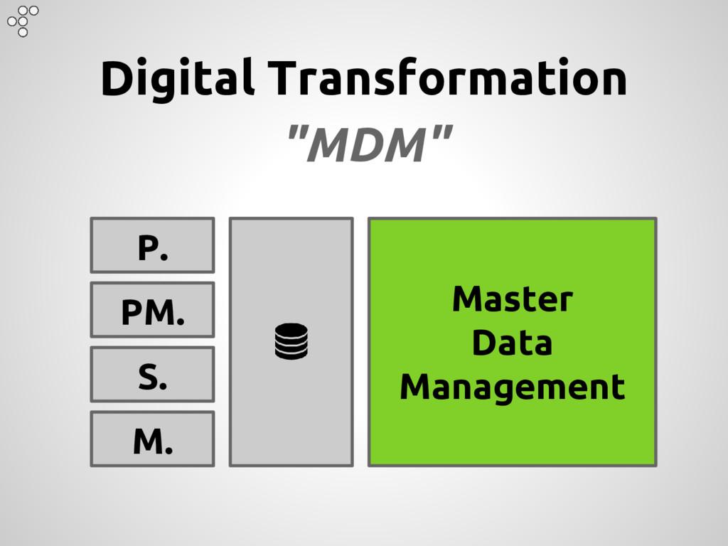 "Digital Transformation ""MDM"" P. PM. S. M. Maste..."