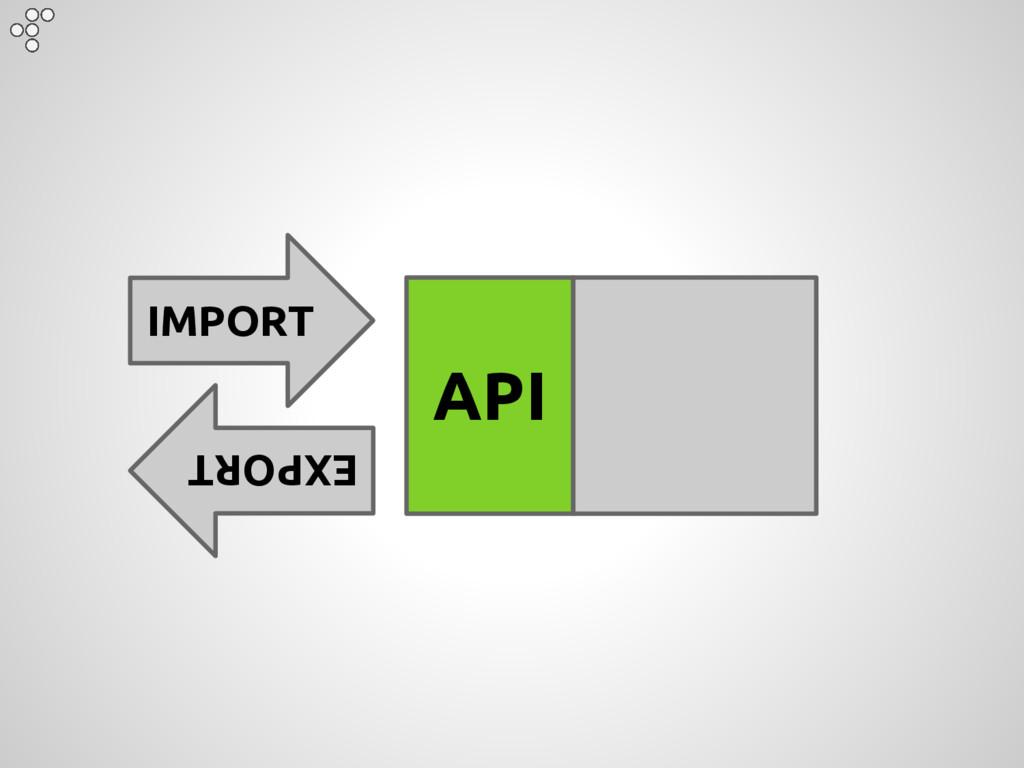 IMPORT EXPORT API
