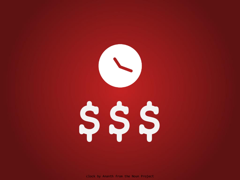 $$$ clock by Ananth from the Noun Project