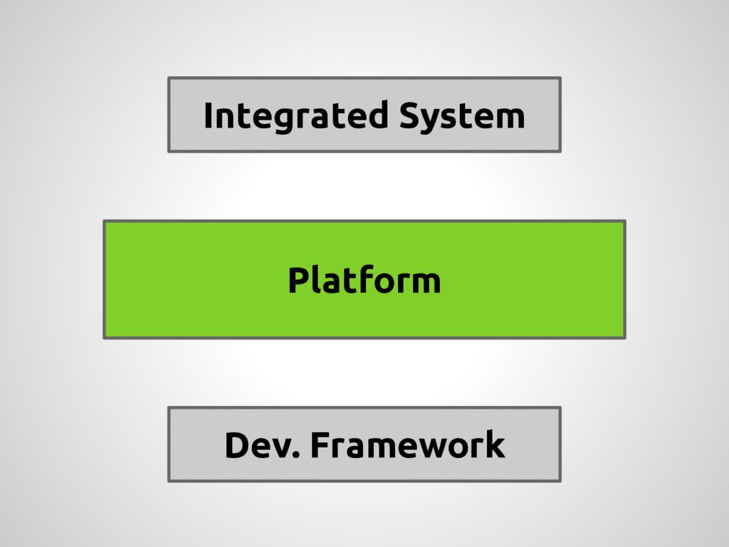 Integrated System Dev. Framework Platform