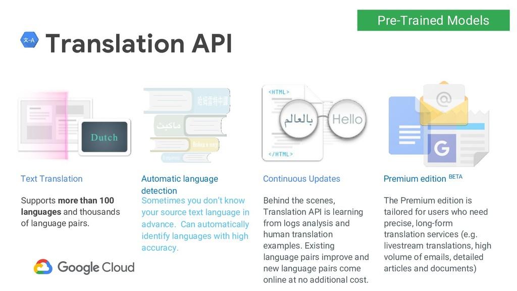 Translation API Supports more than 100 language...