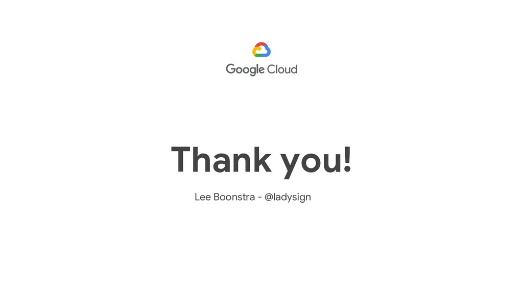 Lee Boonstra - @ladysign Thank you!