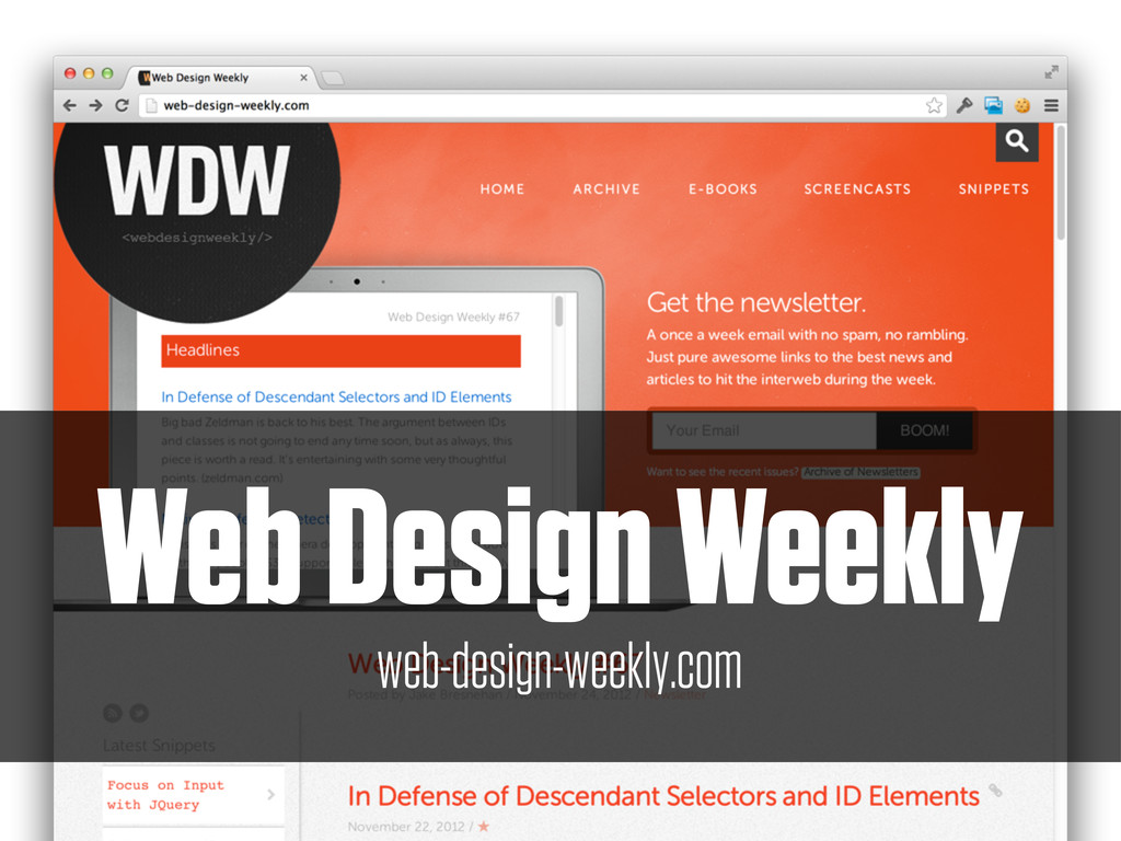Web Design Weekly web-design-weekly.com