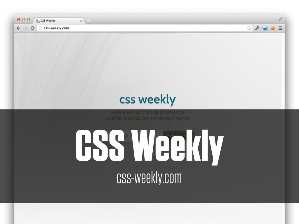 CSS Weekly css-weekly.com