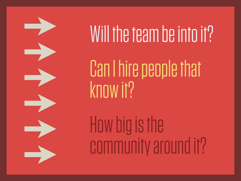 Will the team be into it? Can I hire people tha...
