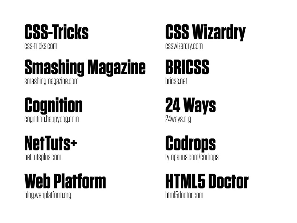 CSS-Tricks css-tricks.com Smashing Magazine sma...