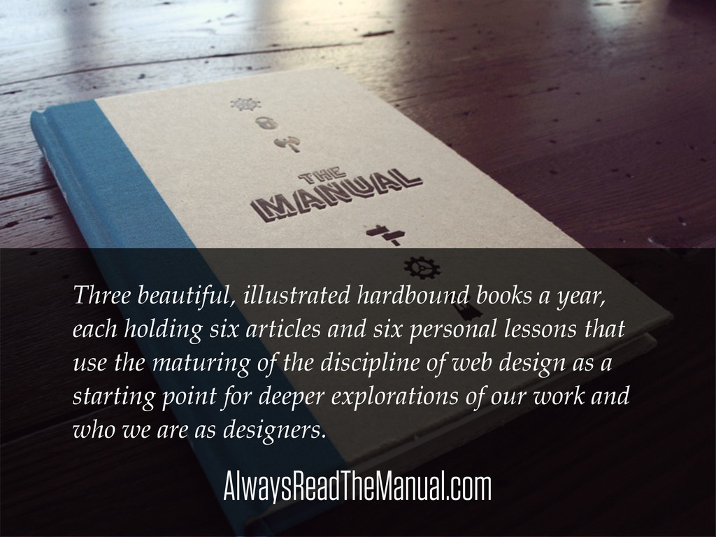 AlwaysReadTheManual.com Three beautiful, illust...