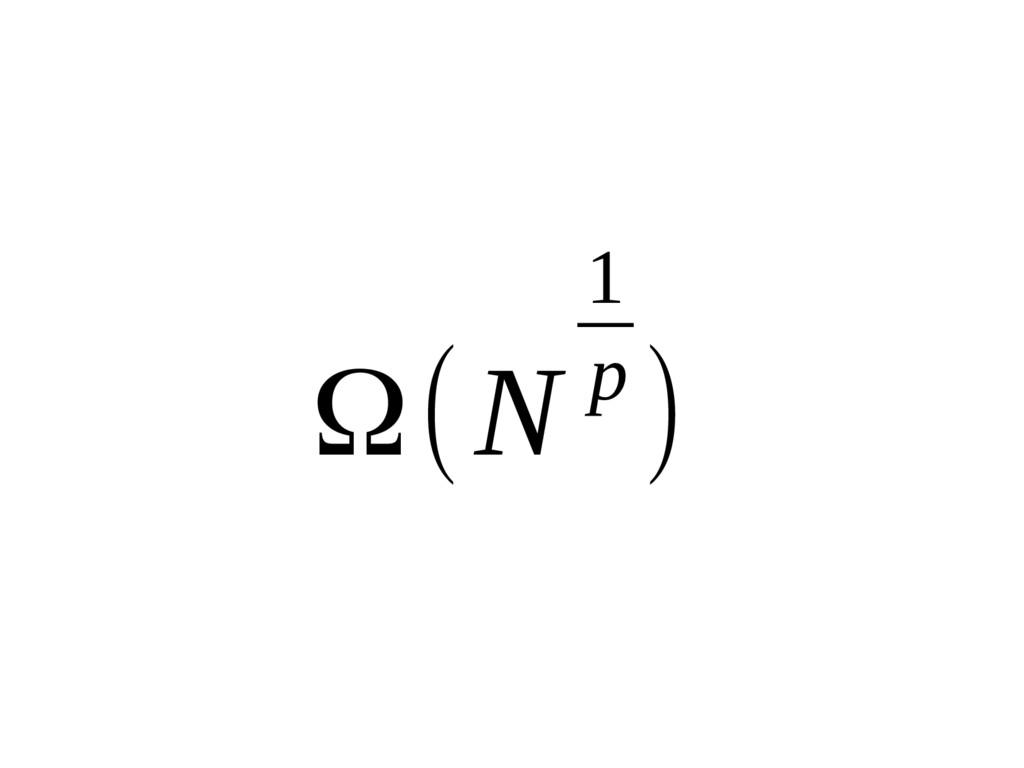Ω(N 1 p )