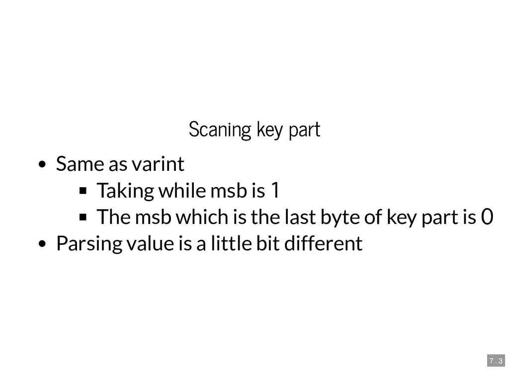 Scaning key part Scaning key part Same as varin...