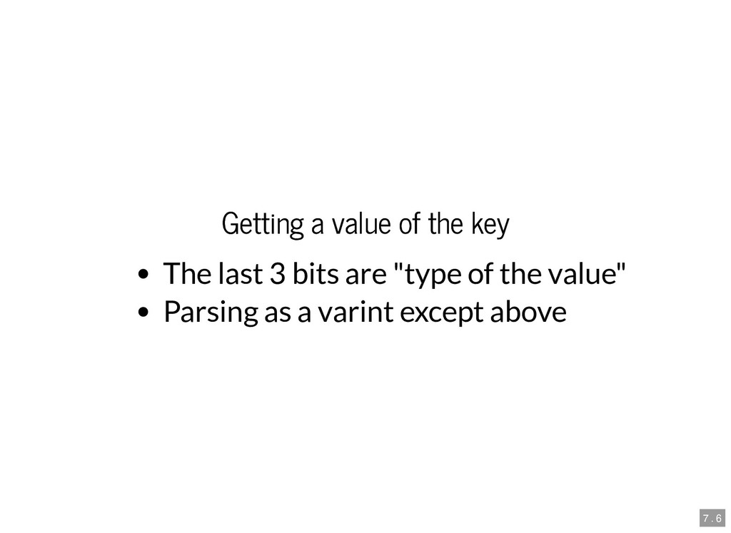 Getting a value of the key Getting a value of t...