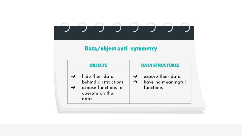 OBJECTS DATA STRUCTURES ➔ hide their data behin...