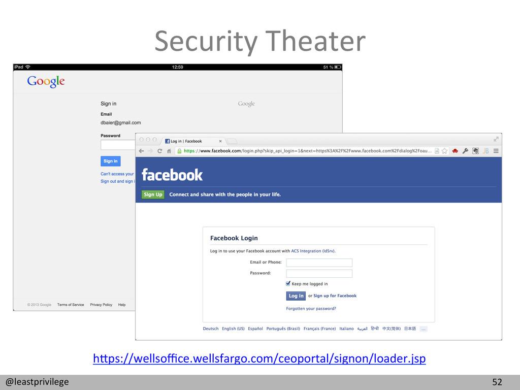52  @leastprivilege  Security Theater...