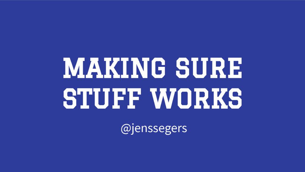 MAKING SURE STUFF WORKS @jenssegers