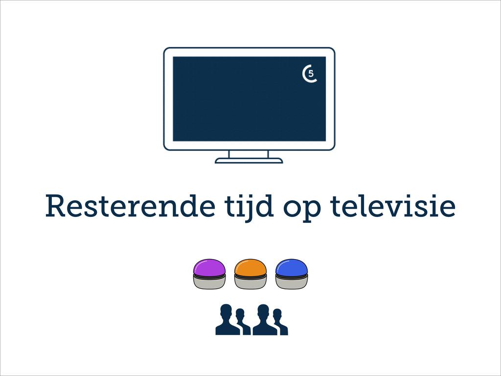 Resterende tijd op televisie