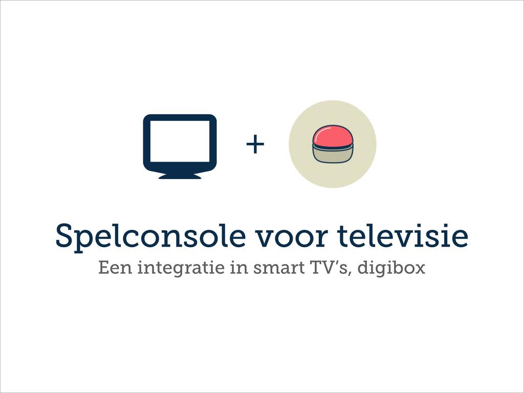 Spelconsole voor televisie + Een integratie in ...