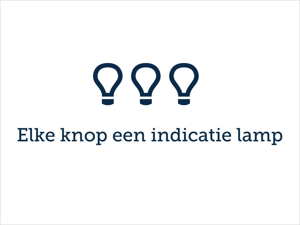 Elke knop een indicatie lamp