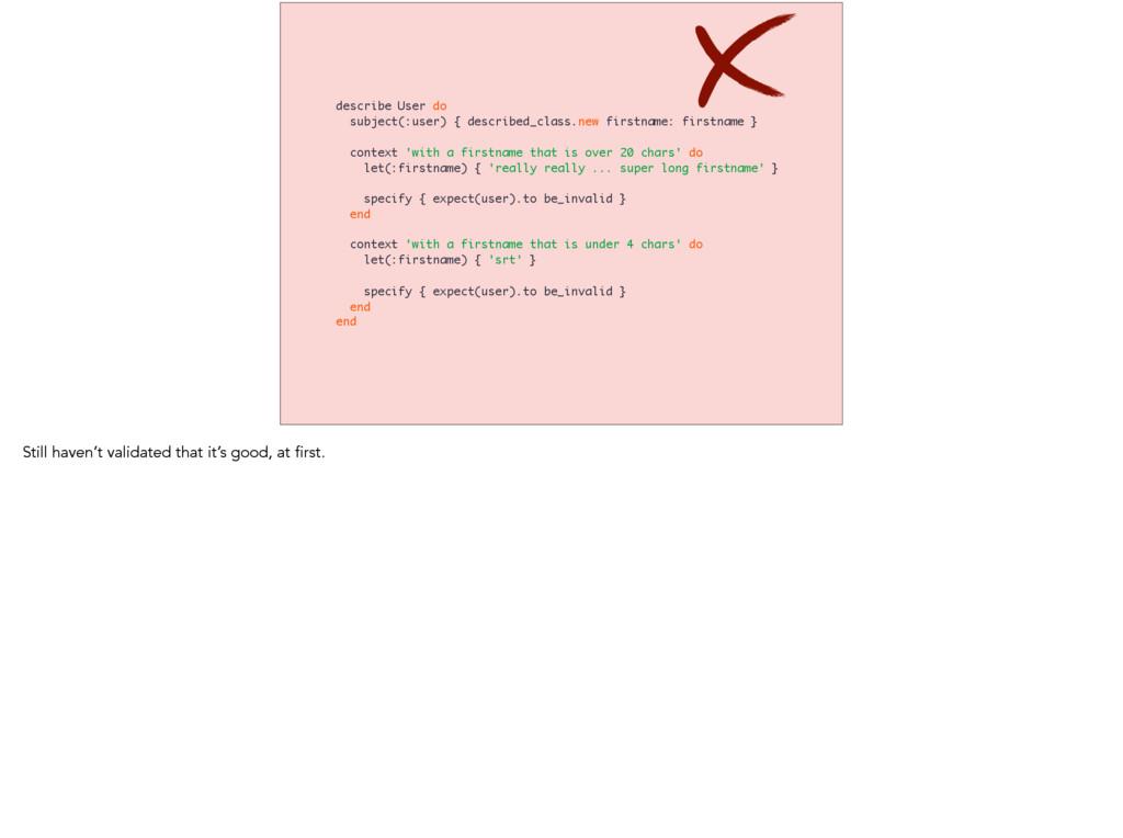 describe User do subject(:user) { described_cla...