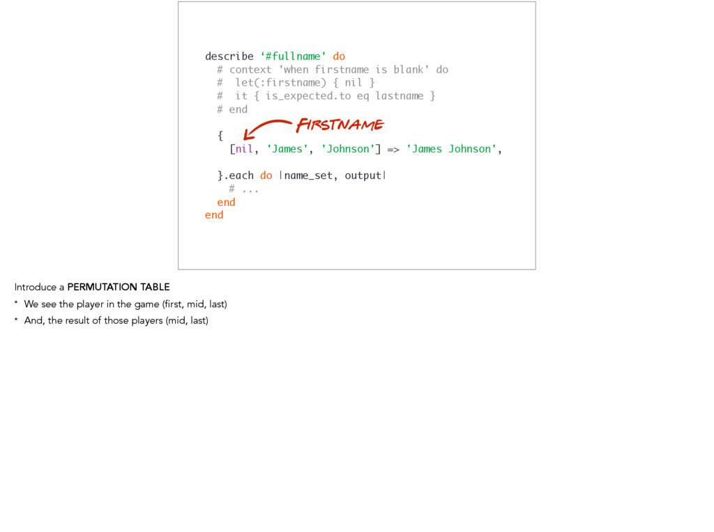 describe '#fullname' do # context 'when firstna...