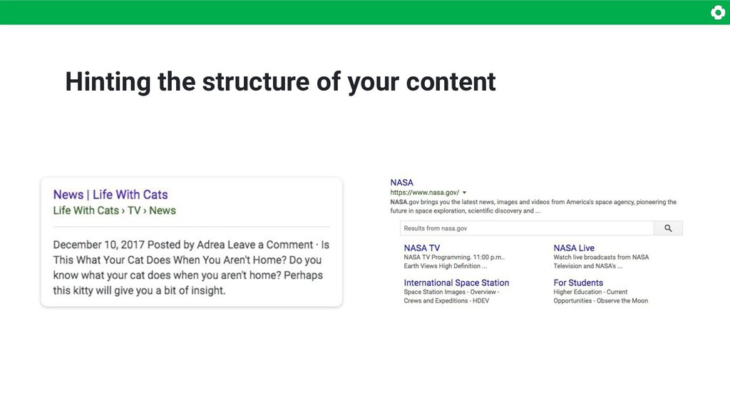 Hinting the structure of your content