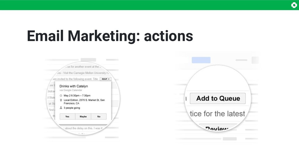 Email Marketing: actions