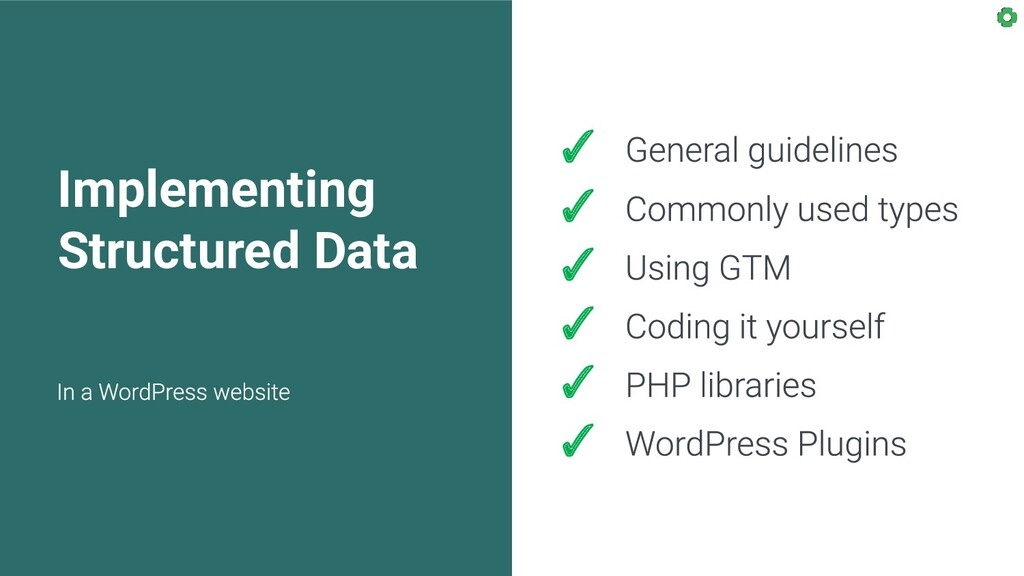 Implementing Structured Data ✓ ✓ ✓ ✓ ✓ ✓
