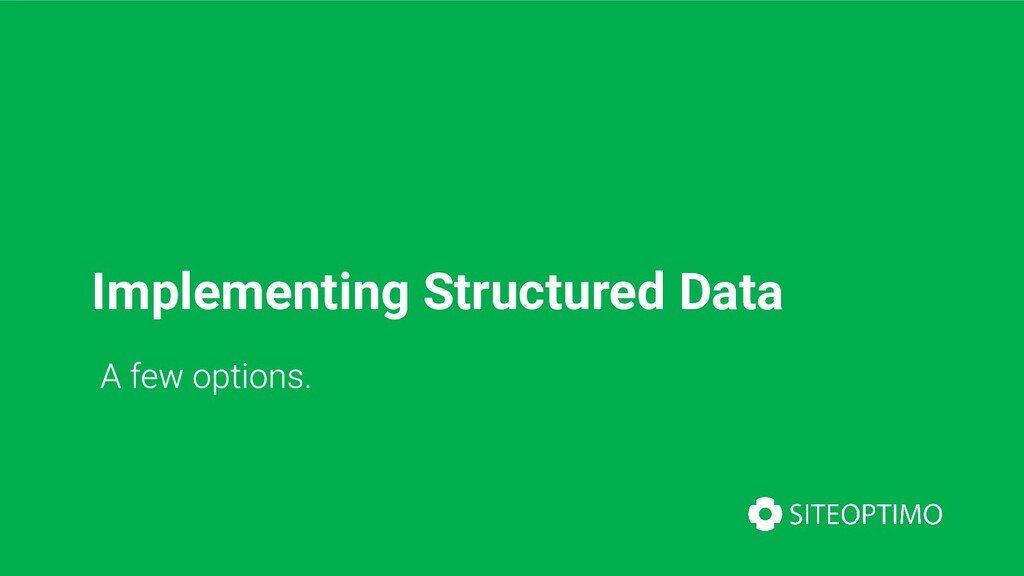 Implementing Structured Data