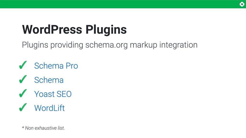 ✓ ✓ ✓ ✓ WordPress Plugins