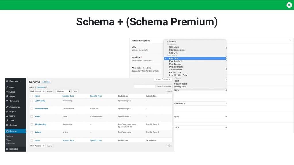 Schema + (Schema Premium)