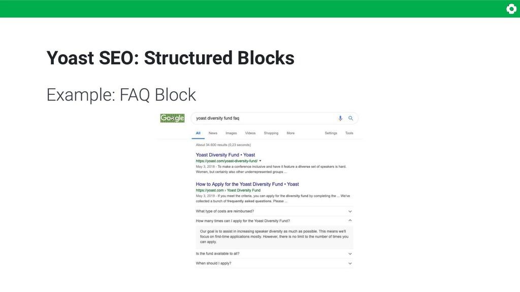Yoast SEO: Structured Blocks