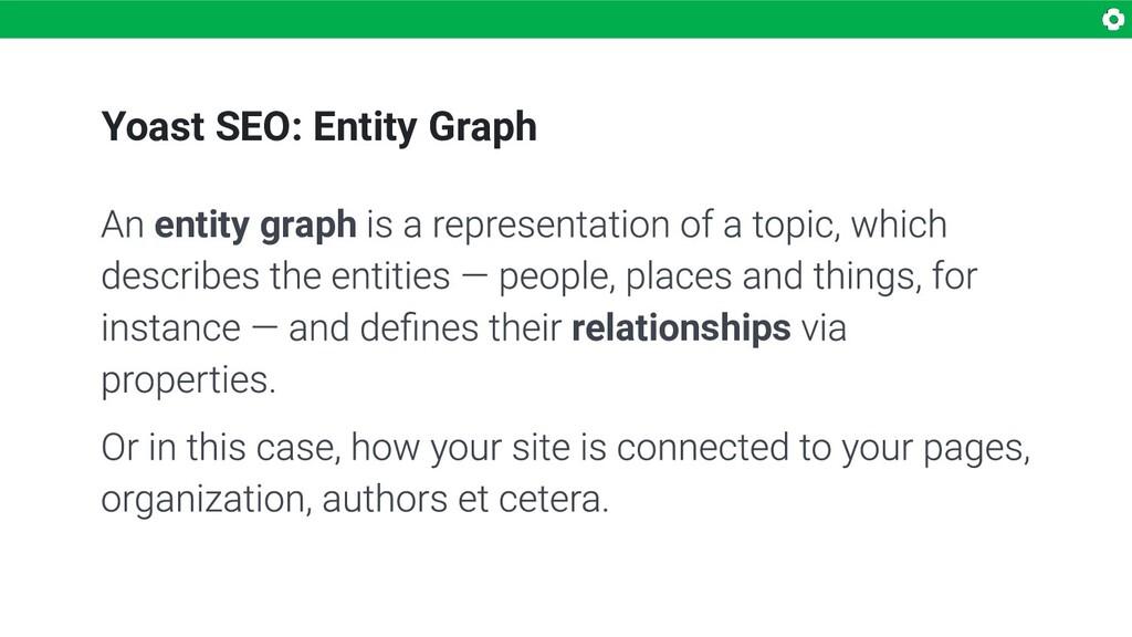 Yoast SEO: Entity Graph entity graph relationsh...