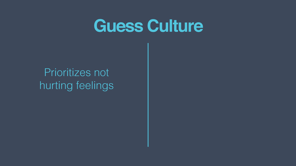 Guess Culture Prioritizes not  hurting feelings