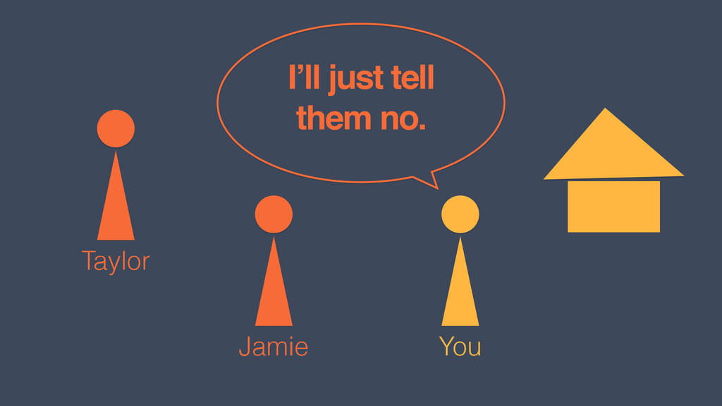 You Jamie I'll just tell them no. Taylor