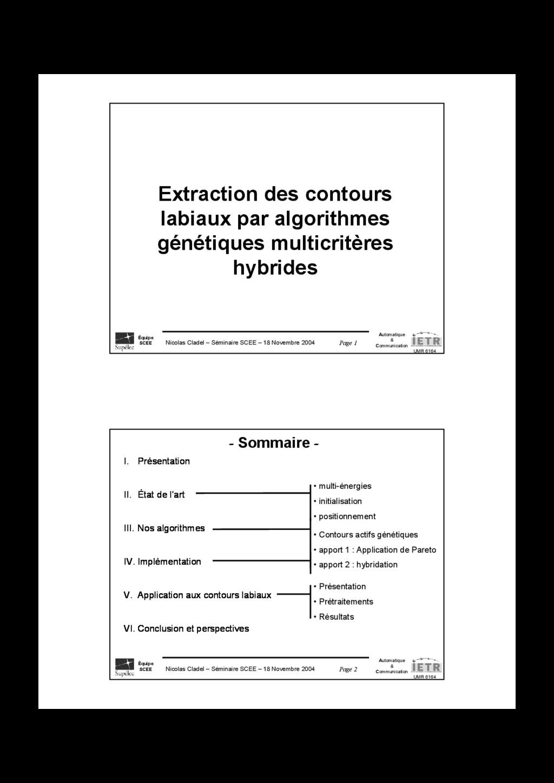 Page 1 Nicolas Cladel – Séminaire SCEE – 18 Nov...