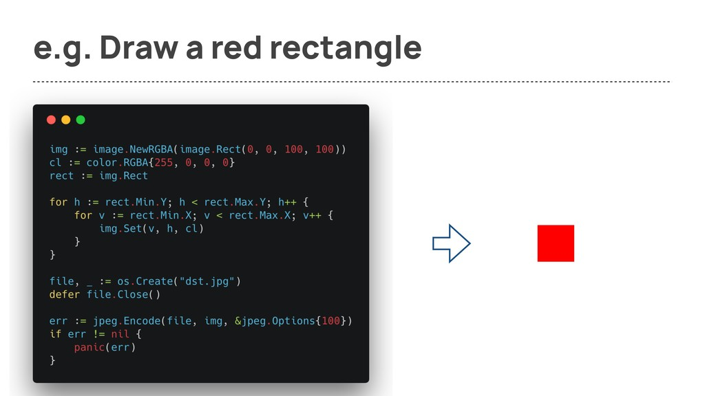 e.g. Draw a red rectangle