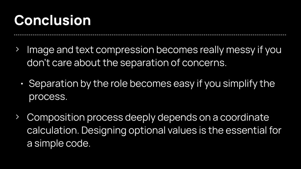 Conclusion > Image and text compression becomes...
