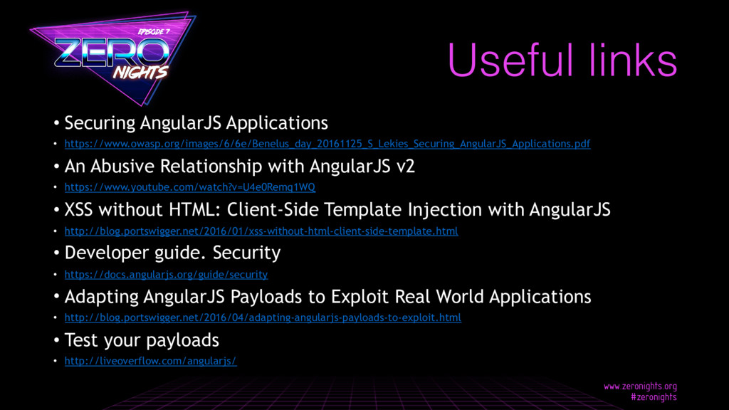 • Securing AngularJS Applications • https://www...