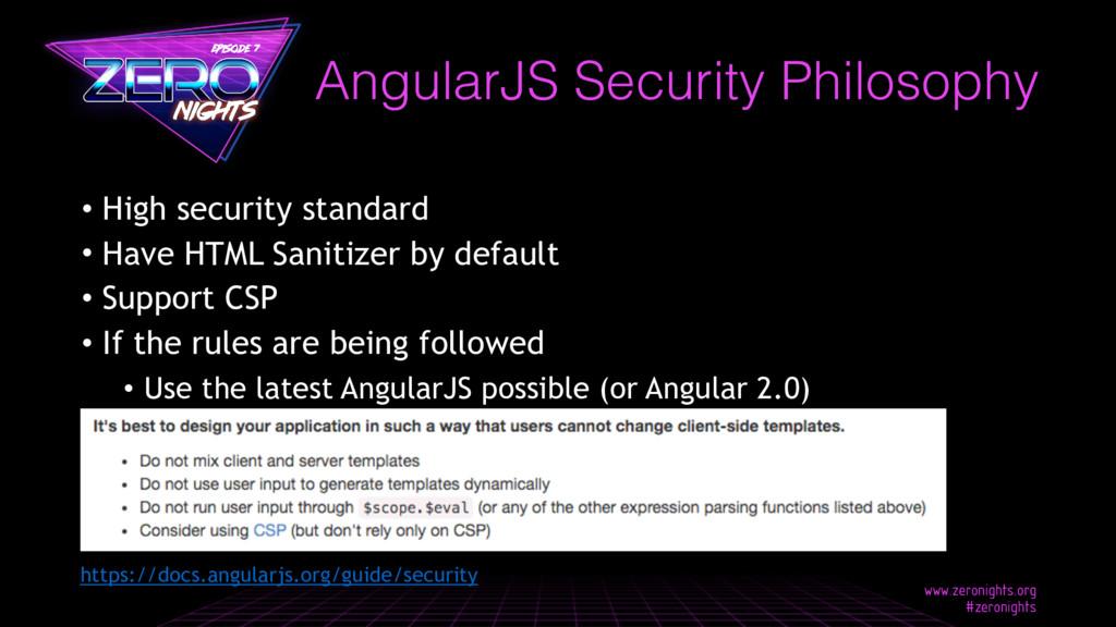 • High security standard • Have HTML Sanitizer ...
