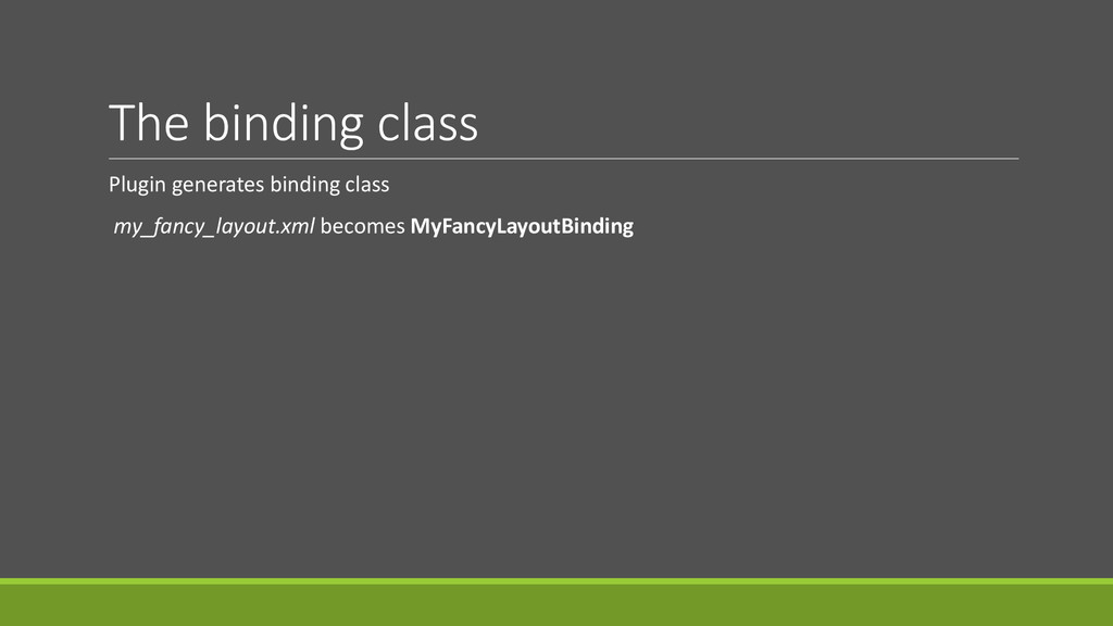 The binding class Plugin generates binding clas...