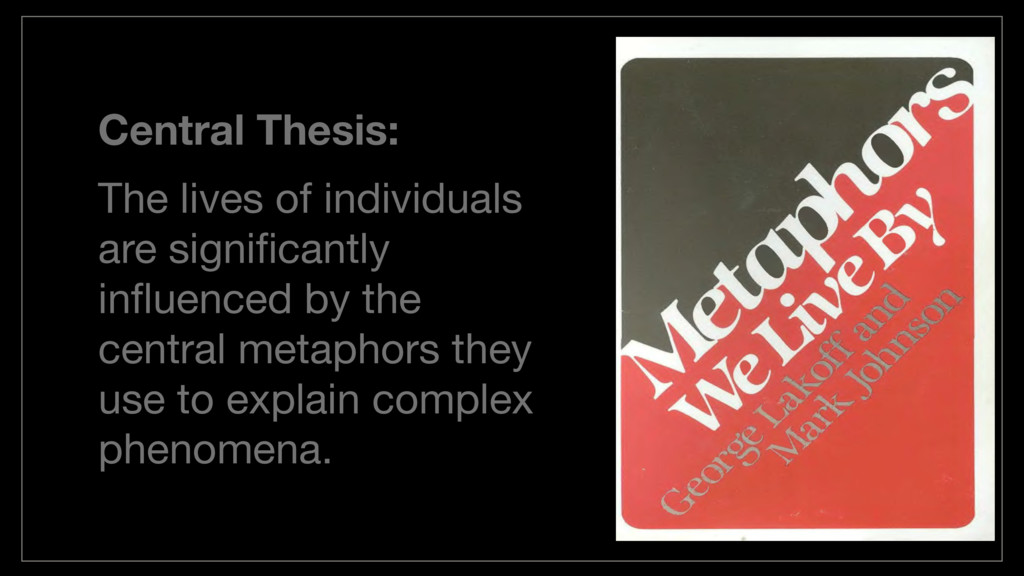 Central Thesis: The lives of individuals are si...