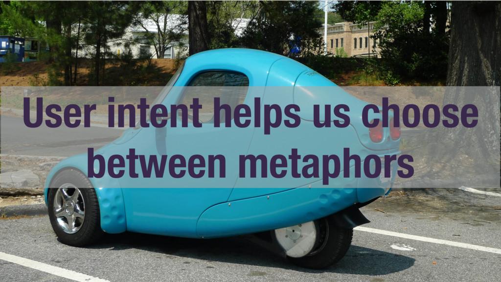 User intent helps us choose between metaphors